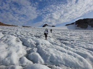 Ascending the glacier