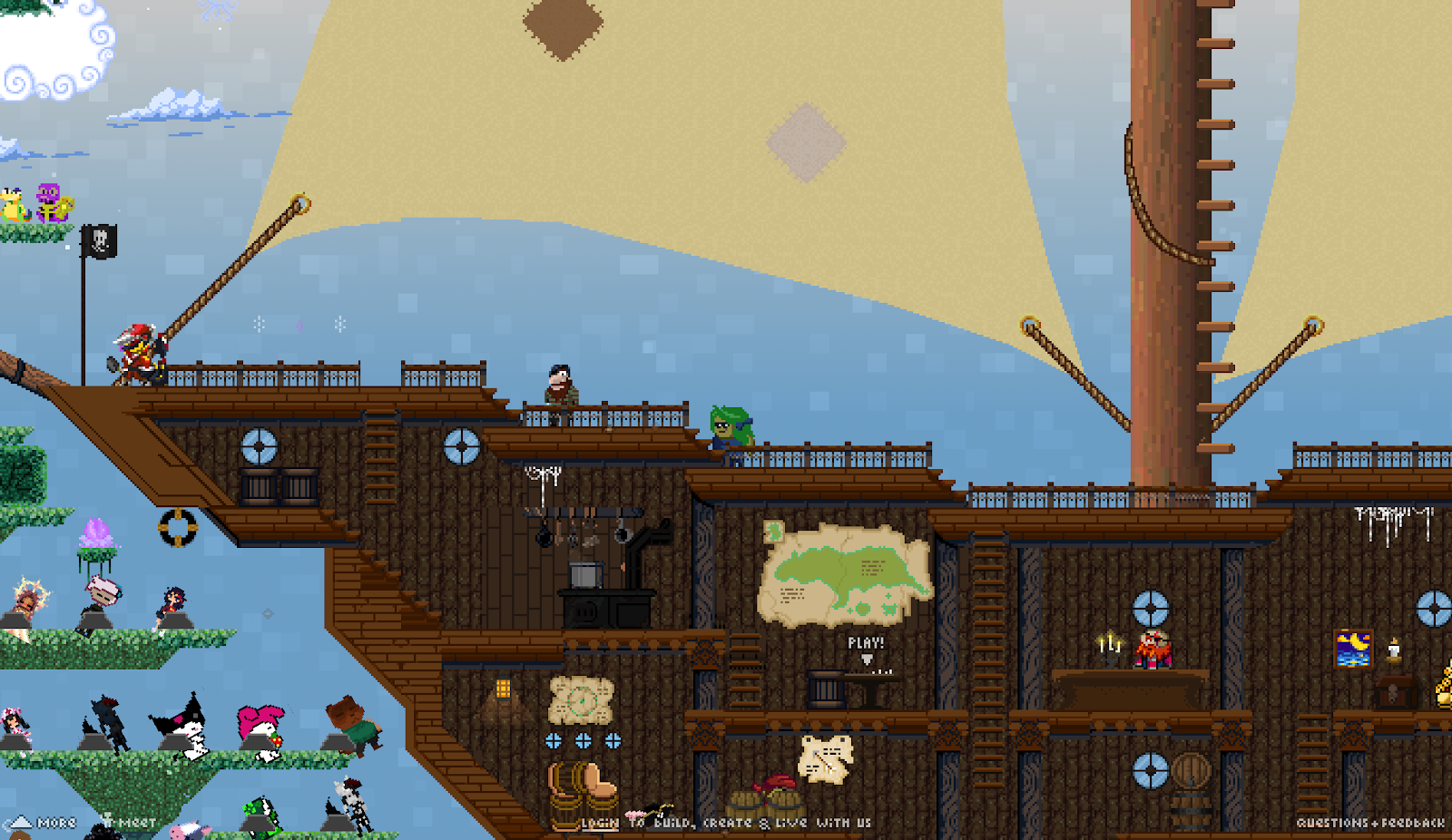 Giant pirate ship in Manyland