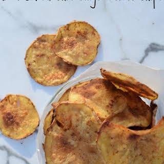 DIY Baked Chili Ginger Potato Chips.
