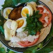 Vegan Sabich Pita