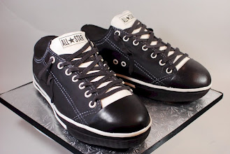 Photo: Chuck Taylor All Star Converse Cake by Cup a Dee Cakes (5/3/2012) View cake details here: http://cakesdecor.com/cakes/14371