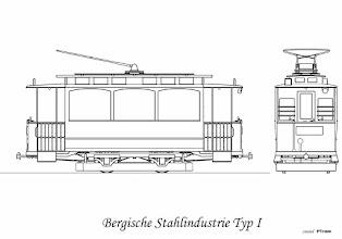 Photo: Do Poznania dostarczono je na przełomie lat 1897/1898. Było ich 15 sztuk. Wyprodukowano je w Bergische Stahlindustrie i posiadały aparaturę Union Elektrizitats Gesellschaft z Berlina. Posiadał 1 silnik typu GE800 o mocy 15 KM. Posiadały 16 miejsc siedzących ustawionych równolegle do ścian (siedziało się plecami do okien) oraz 12 stojących na pomostach. Na każdej ze ścian bocznych były 3 szerokie okna, pomosty otwarte. W 1909 roku wagony otrzymały drugi silnik. Od 1921 roku rozpoczęto zabudowywanie pomostów oraz montowano obwody hamowania elektrodynamicznego. Od 1925 roku w związku z dostawami Ringhofferów rozpoczęto przebudowe tych wagonów na doczepne. Wydłużano im pomosty, likwidowano ścianki działowe wewnątrz oraz demontowano aparaturę. Łącznie na doczepy przebudowano 11 wagonów, pozostałe 4 zasiliły tabor gospodarczy. W 1948 roku wszystkie wagony doczepne przebudowano na typ P3D