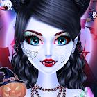 Chica de moda de halloween vestir: juegos de hallo icon