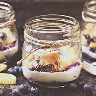 Lemon-Blueberry Bread Pudding in a Jar Recipe