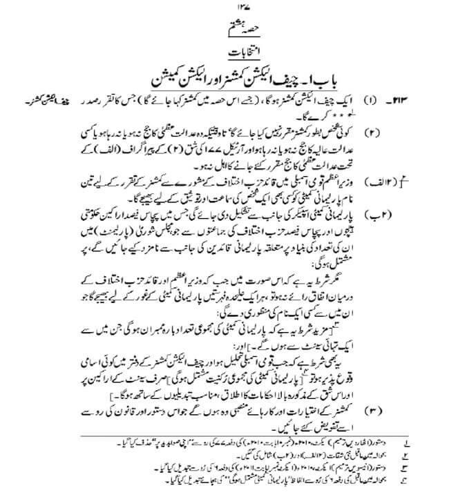 pm of pakistan under 1973 constitution Fundamental rights in pakistan fundamental rights are enshrined in the constitution of islamic republic of pakistan chapter 1 of the constitution contains articles.