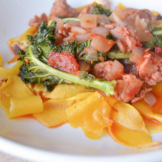 Tuscan Sausage and Kale Ragu with Butternut Squash Fettuccine