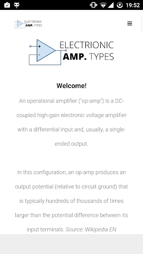 Electronic Amplifier Types