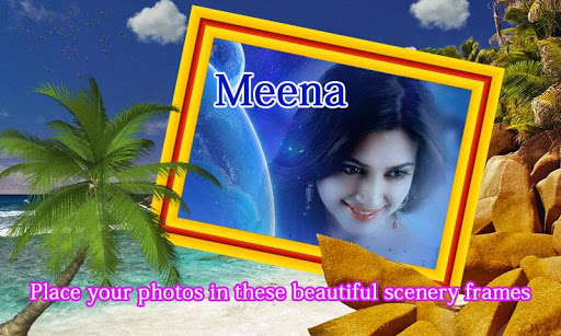Scenery frame photo effect