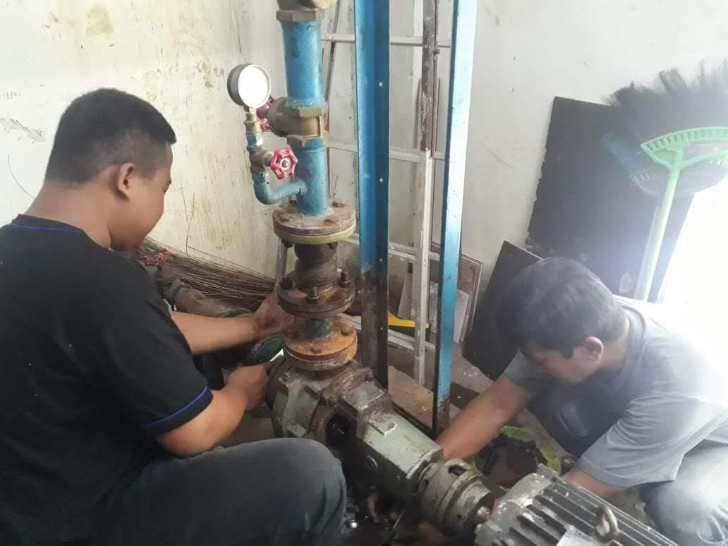 rusunawa sleman : perbaikan kerusakan pompa air rusun