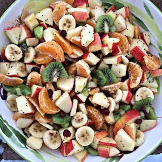 Winter Fruit Salad with Lemon Dressing.