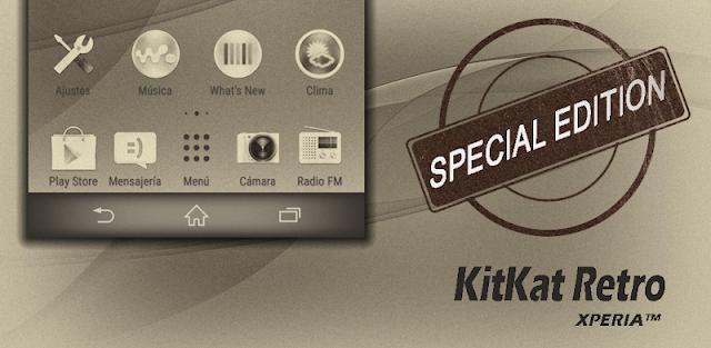 KitKat Retro : Xperia Theme