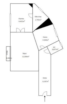 Location appartement 2 pièces 34,69 m2