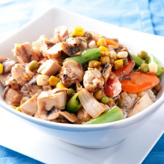 Chicken and Pea Stir Fry.