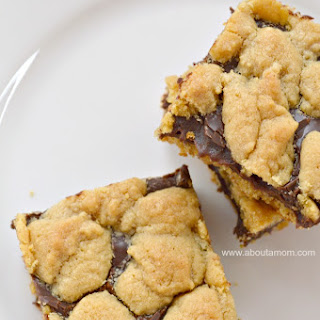 Chocolate-Peanut Butter Cake Mix Cookie Bars.