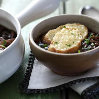 French onion soup with Gruyère toast.