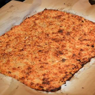 Parmesan Cauliflower Pizza Crust.