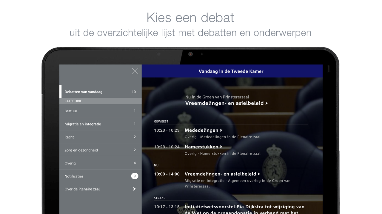 Debat Direct: screenshot