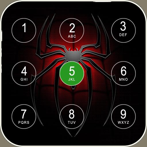 Spider Keypad Lock Screen