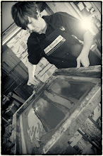 Photo: Beth - One of our screen printers with over 10 years of experience!