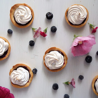 Blueberry Curd Meringue Cups