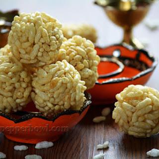 Puffed Rice Balls- a festive