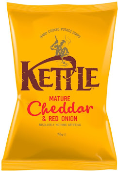 Kettle Crisps - Mature Cheddar & Red Onion, 150g