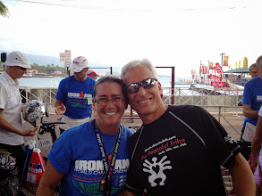 Photo: At bike check-in the volunteers were unbelievable, including long time friend and super volunteer Katie Burke who greeted me at the bike entrance.