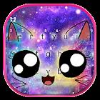 Thème de clavier Galaxy Cute Smile Cat icon