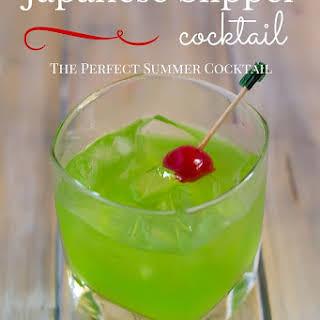 Japanese Slipper Cocktail.