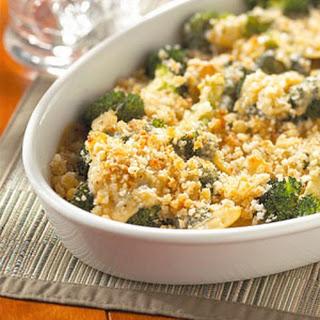 Smoky Gouda-Sauced Broccoli.
