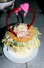Photo: 11040 鎮江/金山飯店/立体花(ラン)作り/水晶肴肉を使う