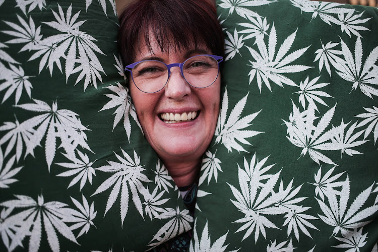 Myrtle Clarke, one half of the 'dagga couple' who are pushing for legalisation.
