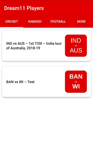 Dream11 Players 1.5 screenshots 1