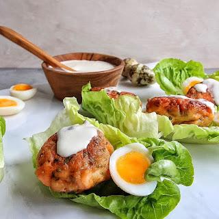 Mini Salmon Caesar Salad Cups