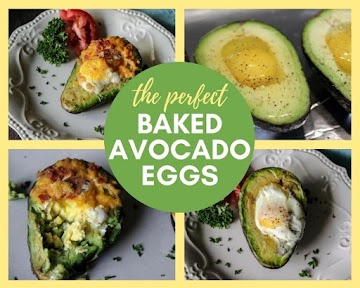 The Perfect Baked Avocado Eggs