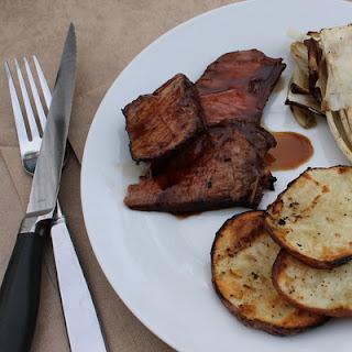 Bourbon & Brown Sugar Marinated Grilled Steak #SundaySupper.
