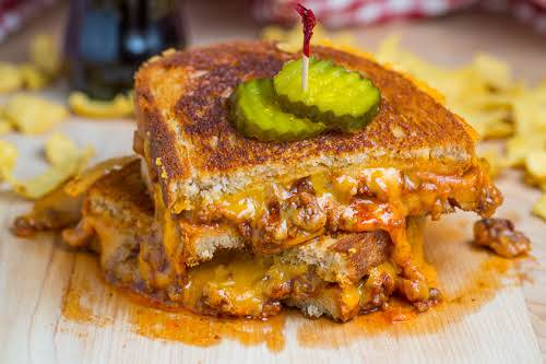 "Sloppy Joe Grilled Cheese Sandwich ""Like the sloppy joe, this grilled cheese..."