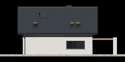 Dom przy Alabastrowej 37 - Elewacja tylna