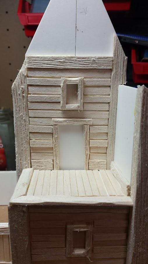 Scratchbuilt Terrain: 28mm Viking Tall House - RichBuilds com