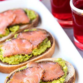 Smoked Salmon on Rye with Passion Tea.