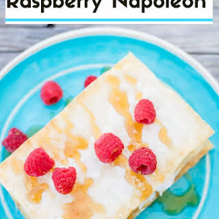 Raspberry Napoleon with Almond Vanilla Sesame Paste.