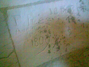 Photo: Some of the grafitti was practically engraved, possibly steeplejacks, brickies or gravediggers?
