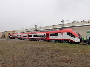 Photo: EN76-043 (KW) wjeżdżający do deszczowni {Bydgoszcz, PESA; 2013-11-08}