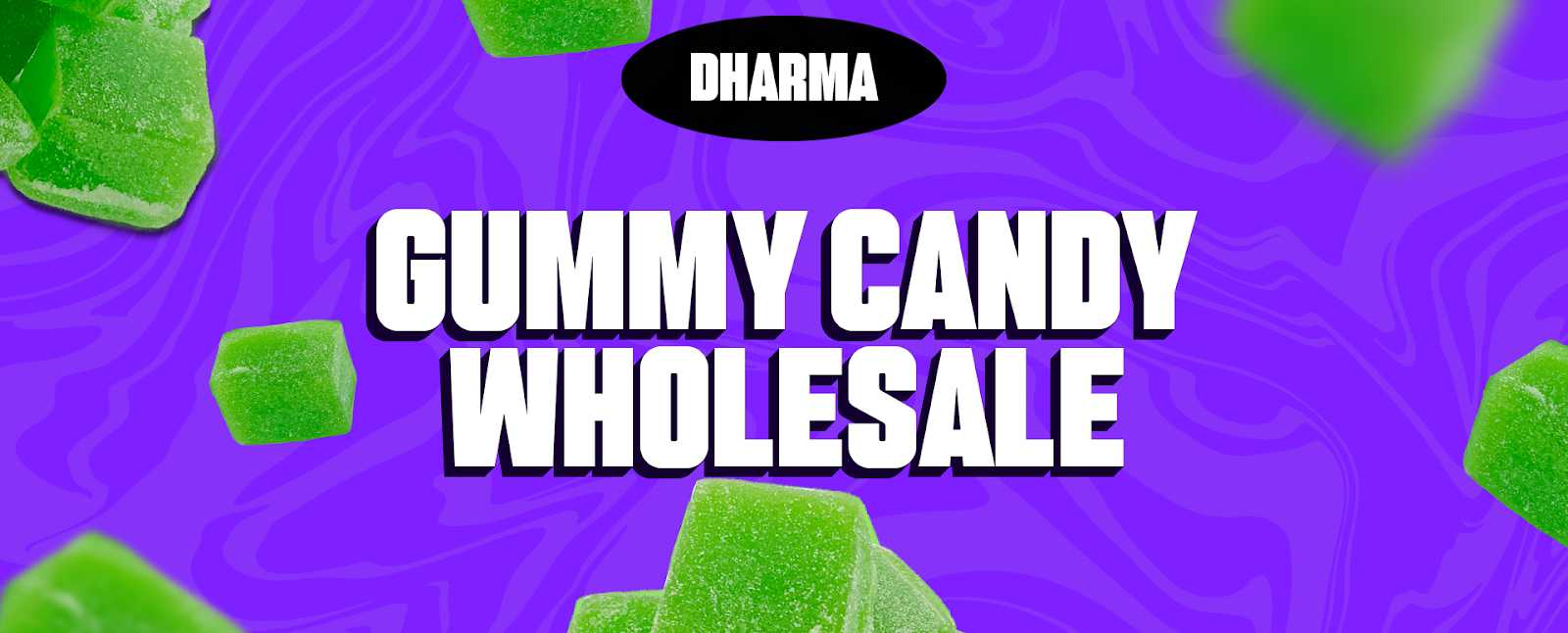 Gummy delta-8 THC gummies in assorted sizes and flavors ready for wholesale purchases