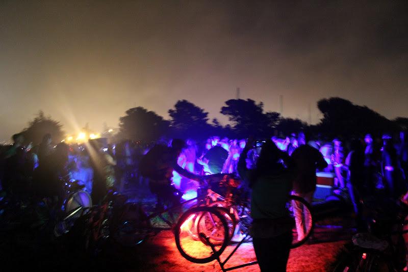 Photo: The speakers were powered by bike generators