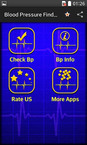 android Blood Pressure Finder Prank Screenshot 1