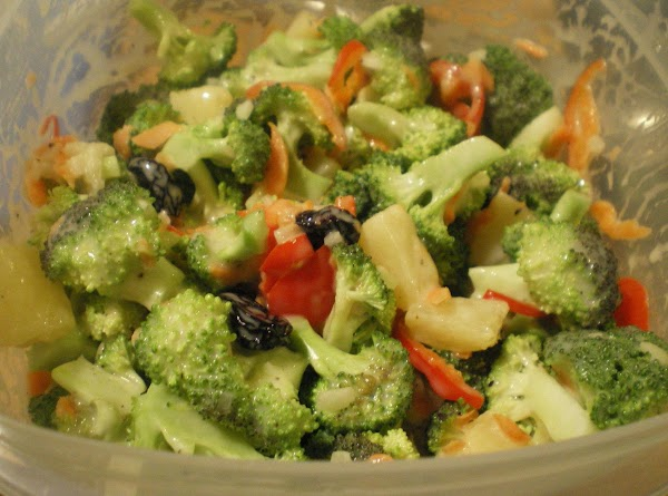 Mix dressing ingredients.  Taste for salt and pepper.  Pour over veggies. ...