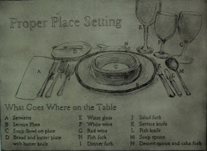 """Photo: Place Setting, 22 x 30"""", drypoint"""