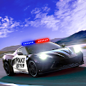 Highway police car chase racing: car racing icon