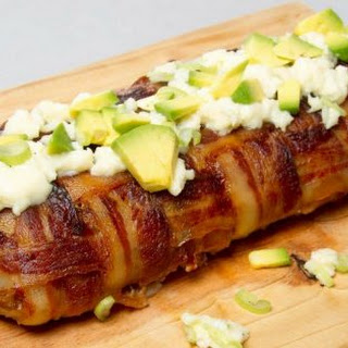 Bacon Wrapped Cheese Stuffed Meatloaf.
